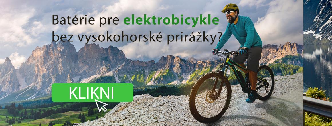 Batérie pre elektrobicykle za skvelé ceny