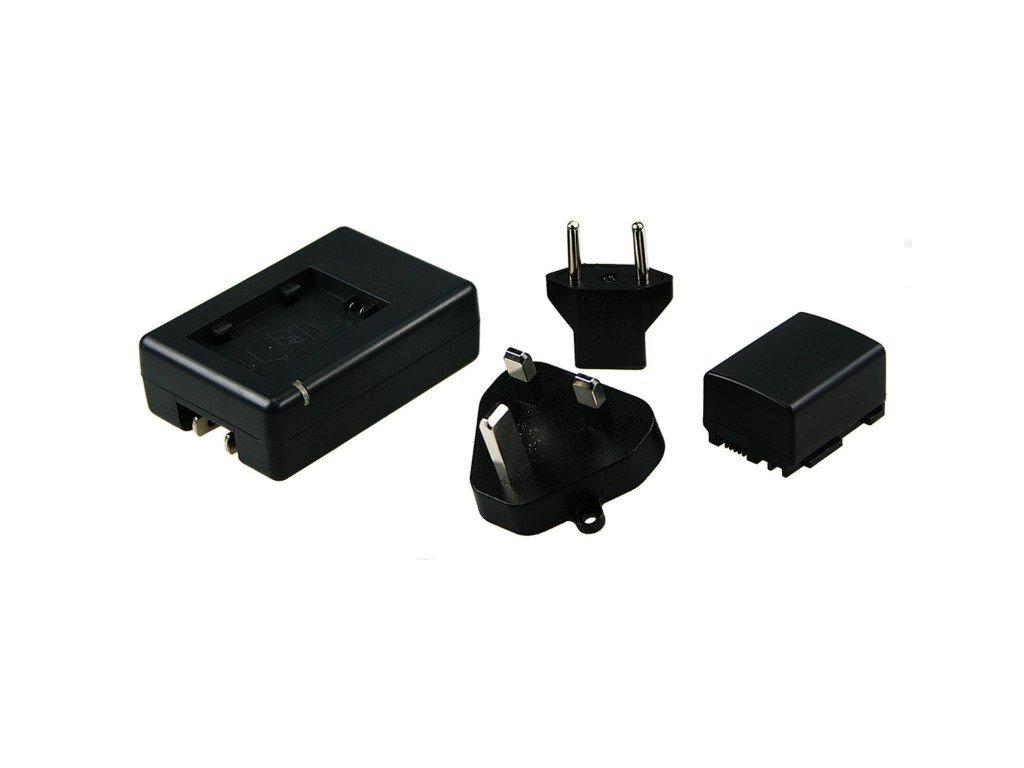 Baterie do videokamery Canon FS10/FS100/FS11/FS20/FS200/FS21/FS22/FS30/FS300/FS31, 670mAh, 7.2V, VBI9689A