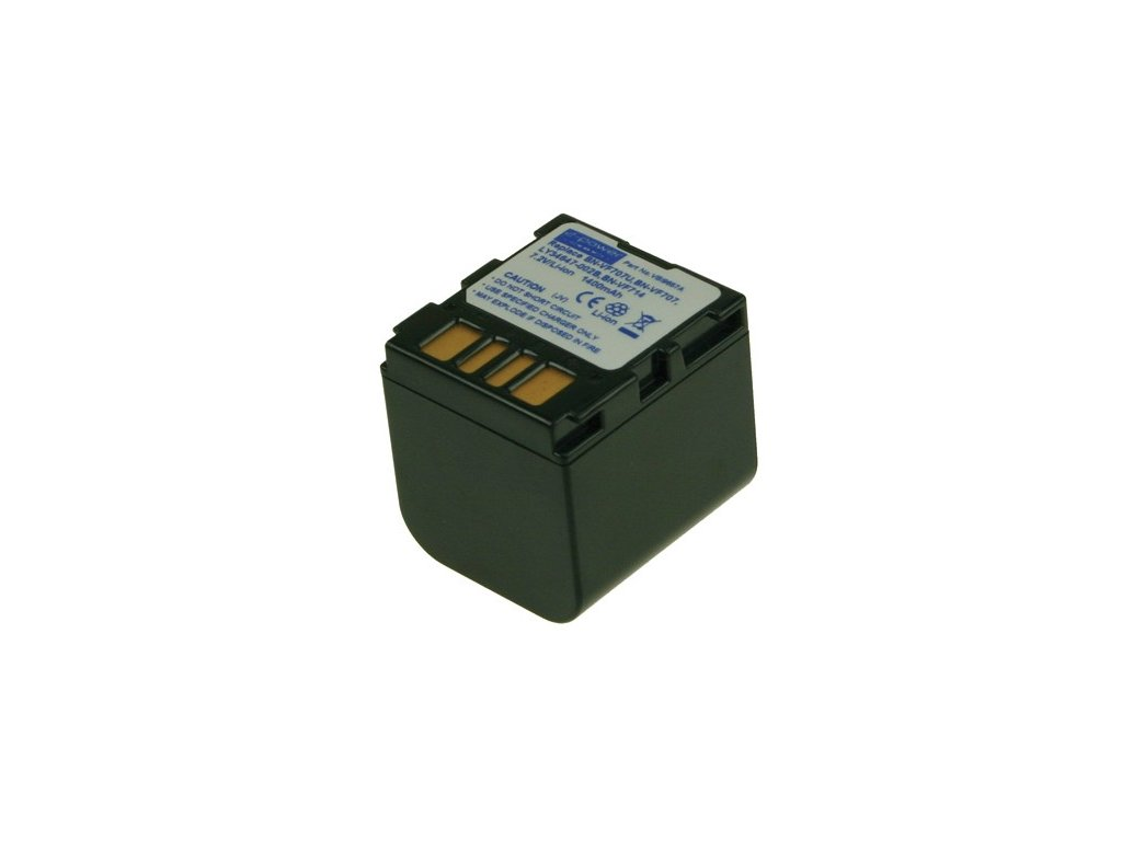 Baterie do videokamery JVC GZ-MG67E/GZ-MG67EX/GZ-MG67U/GZ-MG67US/GZ-MG70/GZ-MG70E/GZ-MG70US/GZ-MG77/GZ-MG77AC/GZ-MG77AH-U, 1400mAh, 7.2V, VBI9657A