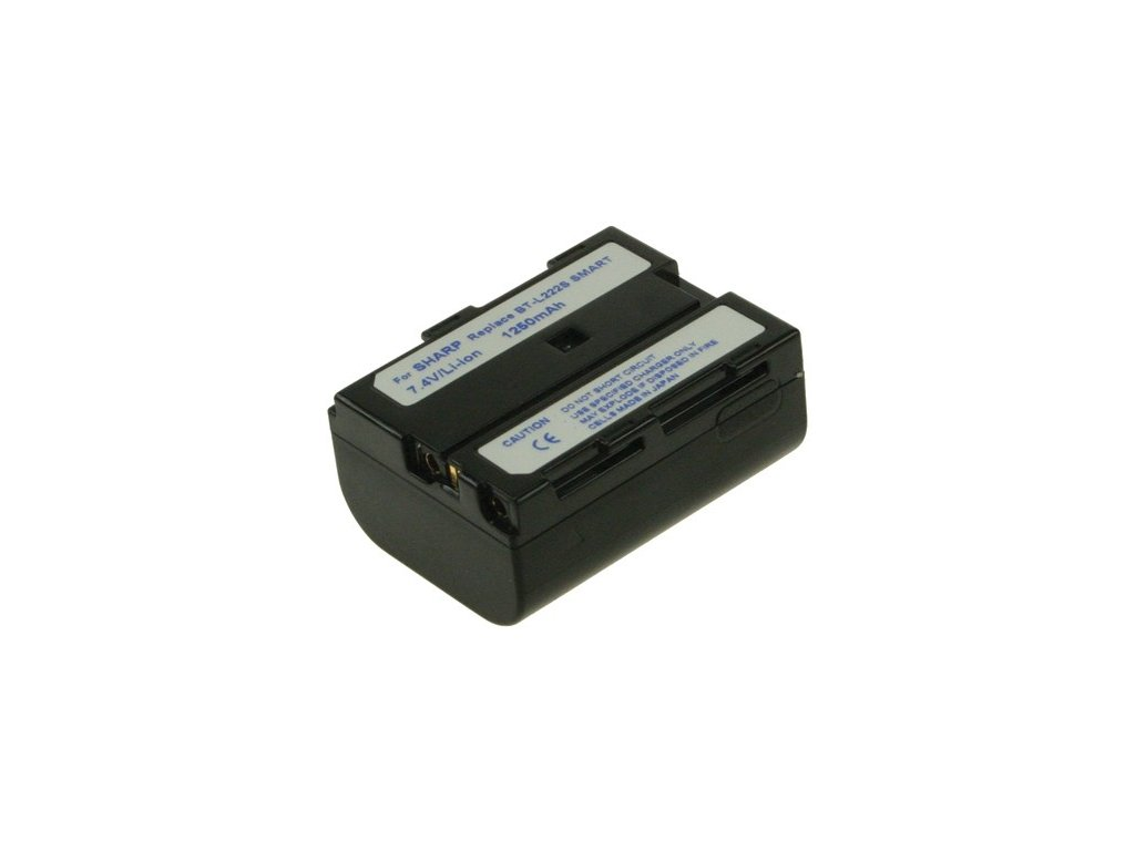 Baterie do videokamery RCA/Samsung/Sharp CC-9390/SC-H411/BT-L241/VL-AD260U/VL-AX1S/VL-DC1S/VL-DF1U/VL-H860U/VL-H870U/VL-H875U, 1500mAh, 7.4V, VBI9587A
