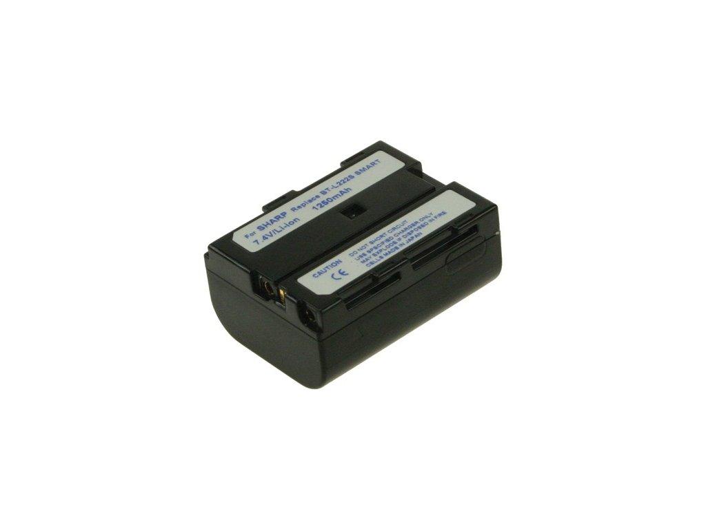 Baterie do videokamery Sharp VL-H880U/VL-H890U/VL-ME100H/VL-ME100S/VL-ME10S/VL-PD1S/VL-PD3S/VL-PD3U/VL-PD6S/VL-SD20S, 1500mAh, 7.4V, VBI9587A