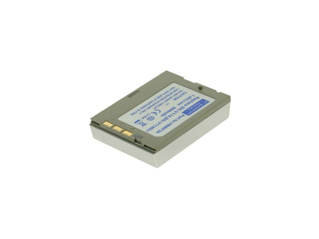 Baterie do videokamery JVC GR-DX307/GR-DX317/GR-DX35/GR-DX35E/GR-DX37/GR-DX45/GR-DX48/GR-DX55/GR-DX55E/GR-DX57, 2000mAh, 7.4V, VBI9572A