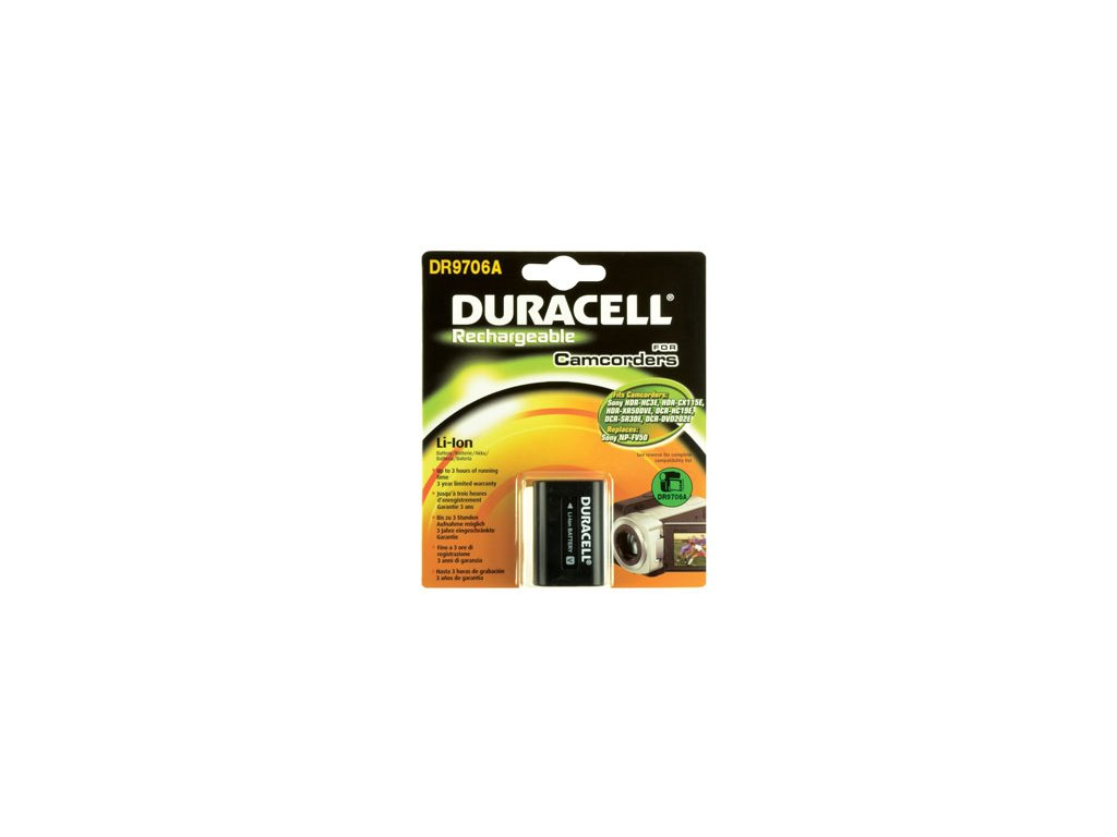 Baterie do videokamery Sony HDR-CX105/HDR-CX105E/HDR-CX105ES/HDR-CX110/HDR-CX115E/HDR-CX115EB/HDR-CX115EL/HDR-CX115ER/HDR-CX116E/HDR-CX116EB, 650mAh, 7.4V, DR9706A