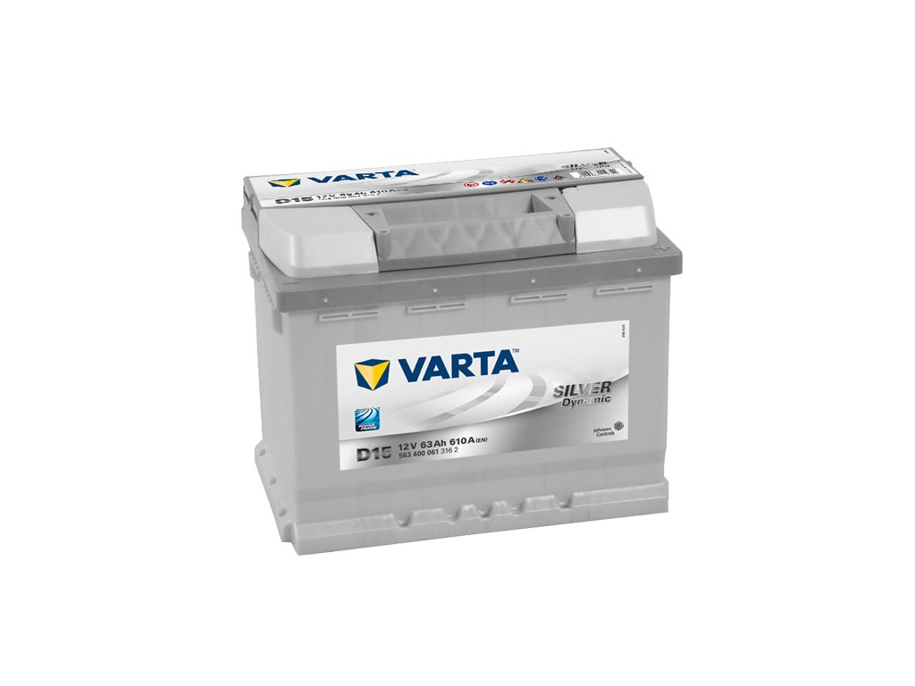 autobaterie varta silver dynamic 63ah 12v d15 battery. Black Bedroom Furniture Sets. Home Design Ideas