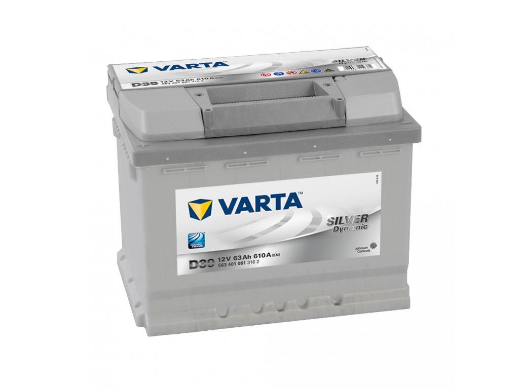 Autobatérie VARTA SILVER Dynamic 63Ah, 12V, D39