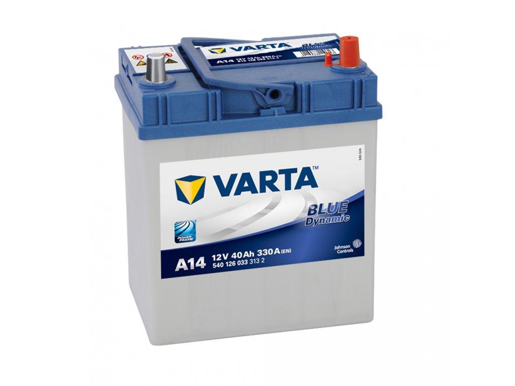 Autobatérie VARTA BLUE Dynamic 40Ah, 12V, A14
