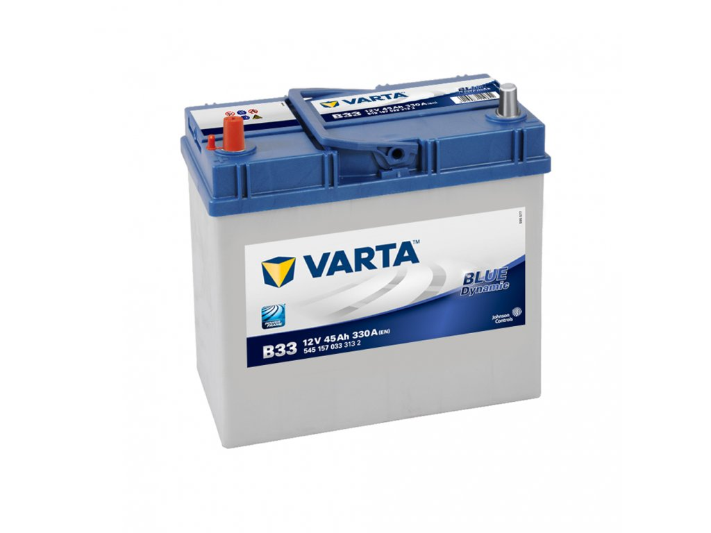 autobaterie varta blue dynamic 45ah 12v b33 battery. Black Bedroom Furniture Sets. Home Design Ideas