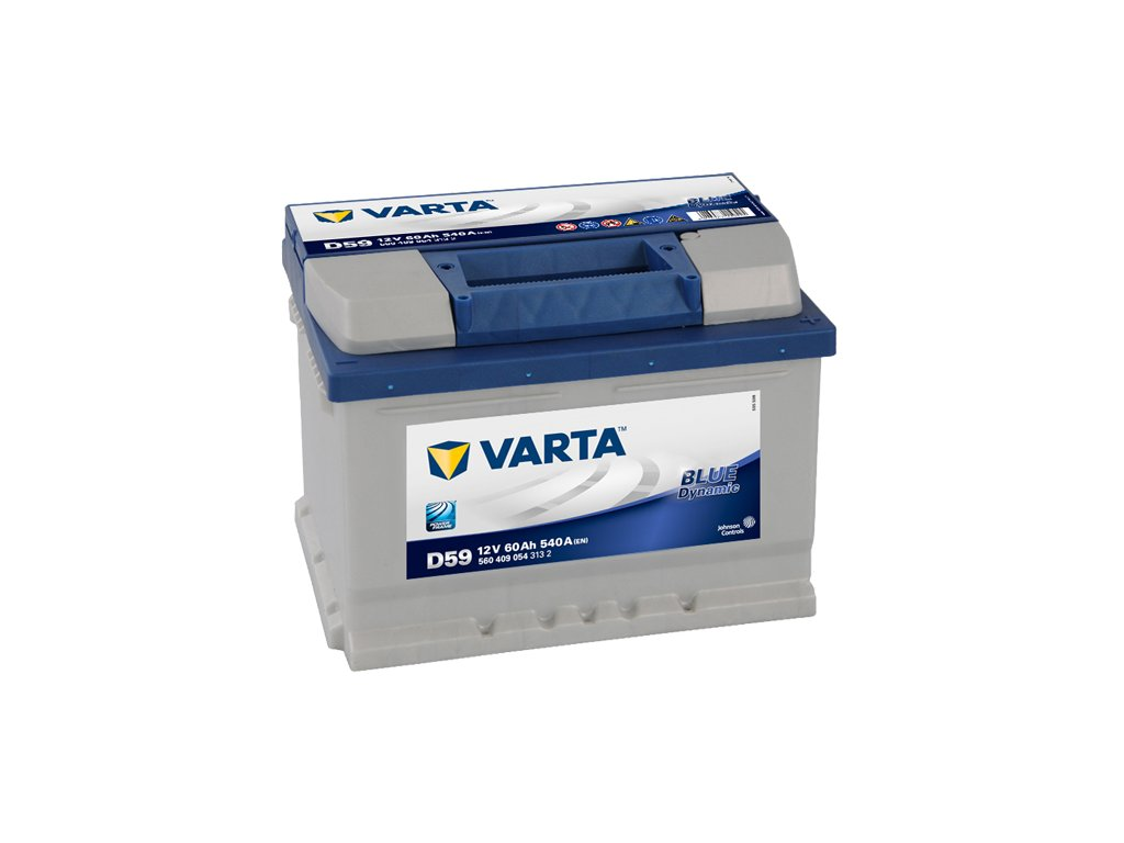 autobaterie varta blue dynamic 60ah 12v d59 battery. Black Bedroom Furniture Sets. Home Design Ideas