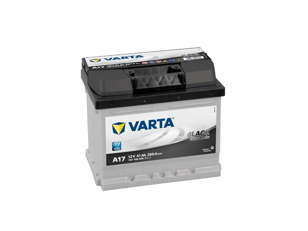 autobaterie varta black dynamic 41ah 12v a17 battery import sk. Black Bedroom Furniture Sets. Home Design Ideas