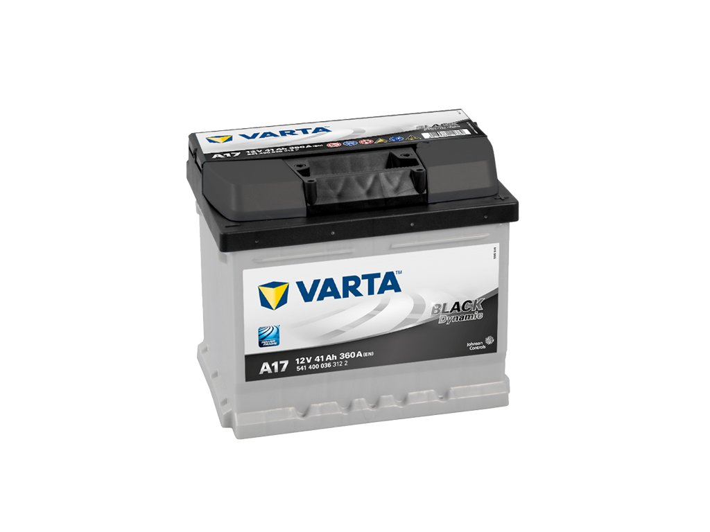 autobaterie varta black dynamic 41ah 12v a17 battery import sk. Black Bedroom Furniture Sets. Home Design Ideas