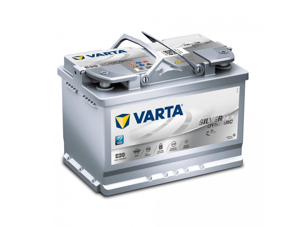 Autobatérie VARTA Silver Dynamic AGM 70Ah, 12V, E39, AGM