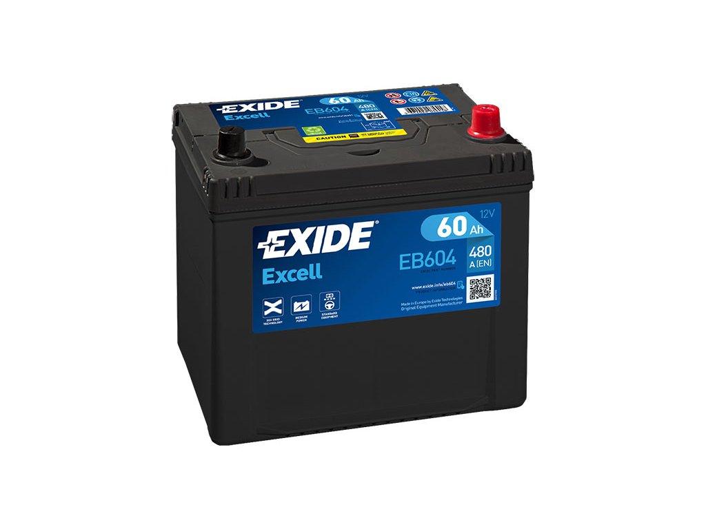 Autobatéria EXIDE EXCELL 60Ah, 12V, EB604