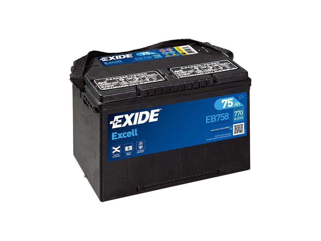 Autobatéria EXIDE EXCELL 75Ah, 12V, EB758