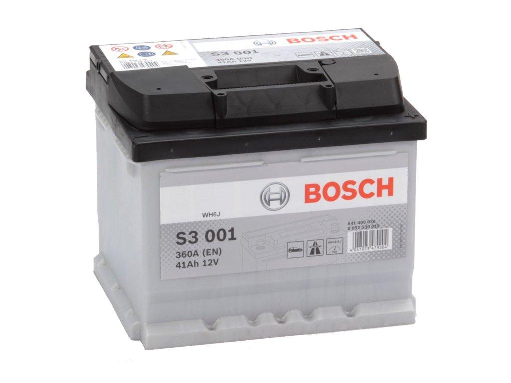 Autobatéria BOSCH S3 001, 41Ah, 12V (0 092 S30 010)