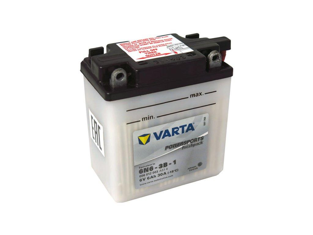 Motobatérie VARTA 6N6-3B-1, 6Ah, 6V