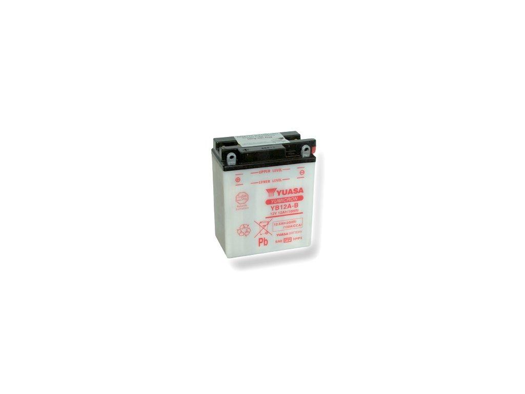 Motobatéria YUASA (originál) YB12A-B, 12V,  12Ah  dodávané vrátane balenia akumulátorovej kyseliny