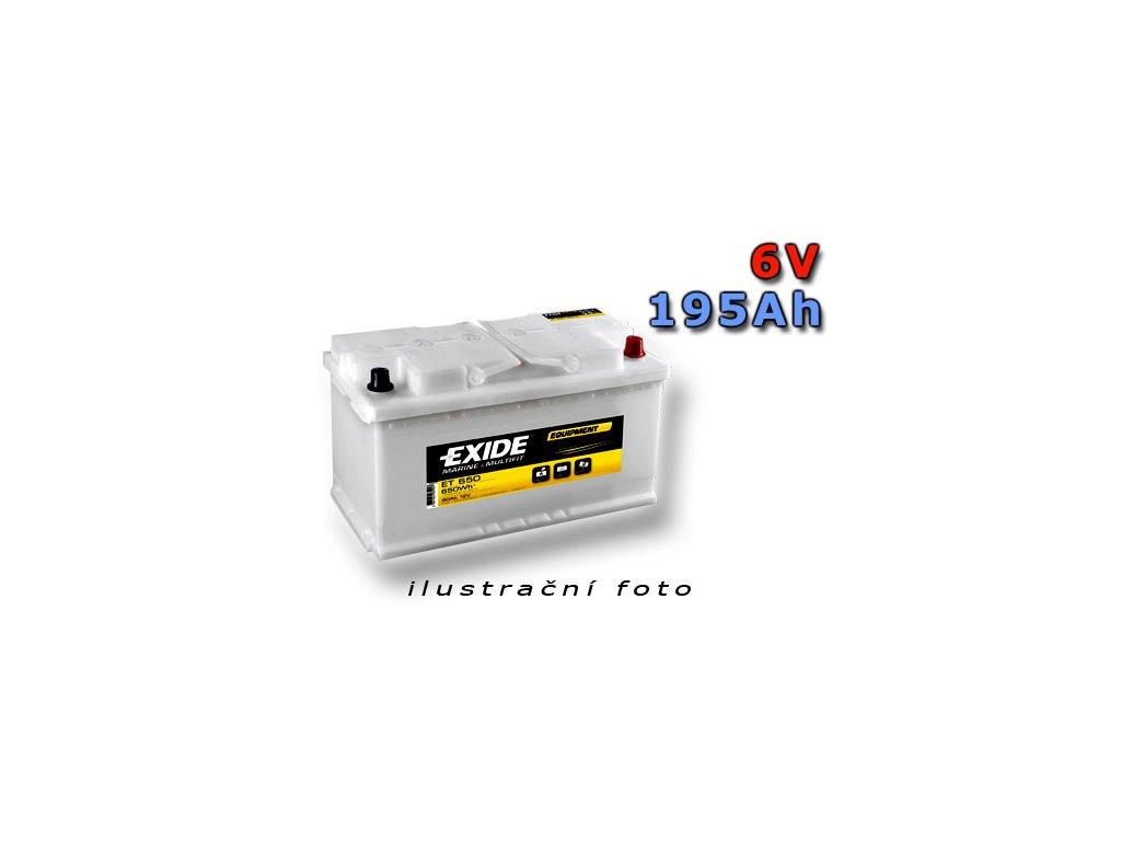 Trakčná batéria EXIDE EQUIPMENT 195Ah, 6V, ET700-6 (ET 700-6)