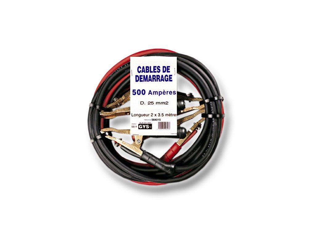 Startovací kabely GYS PROFI, 500A, 25mm, 3.0m