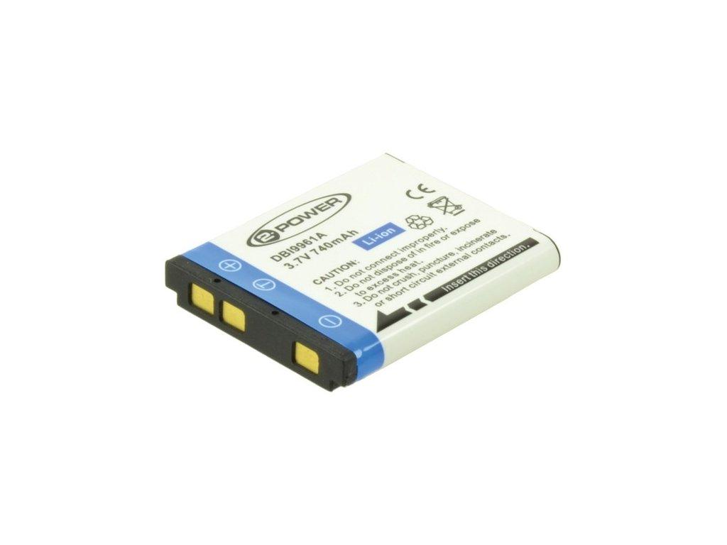 Baterie do fotoaparátu Nikon CoolPix S2500/CoolPix S3100/CoolPix S4100, 600mAh, 3.7V, DBI9963A