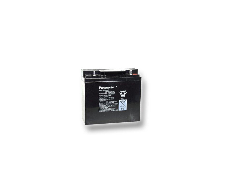 Staniční (záložní) baterie PANASONIC LC-XC1222P, 22Ah, 12V