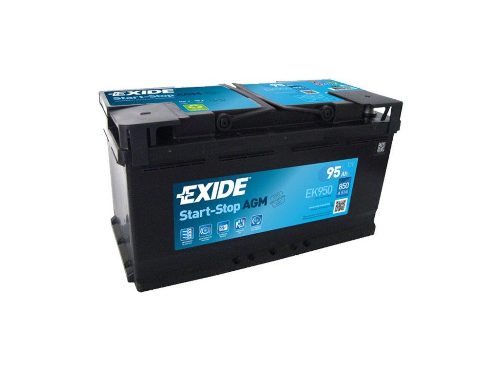 Autobatéria EXIDE START-STOP AGM 95Ah, 12V, EK950