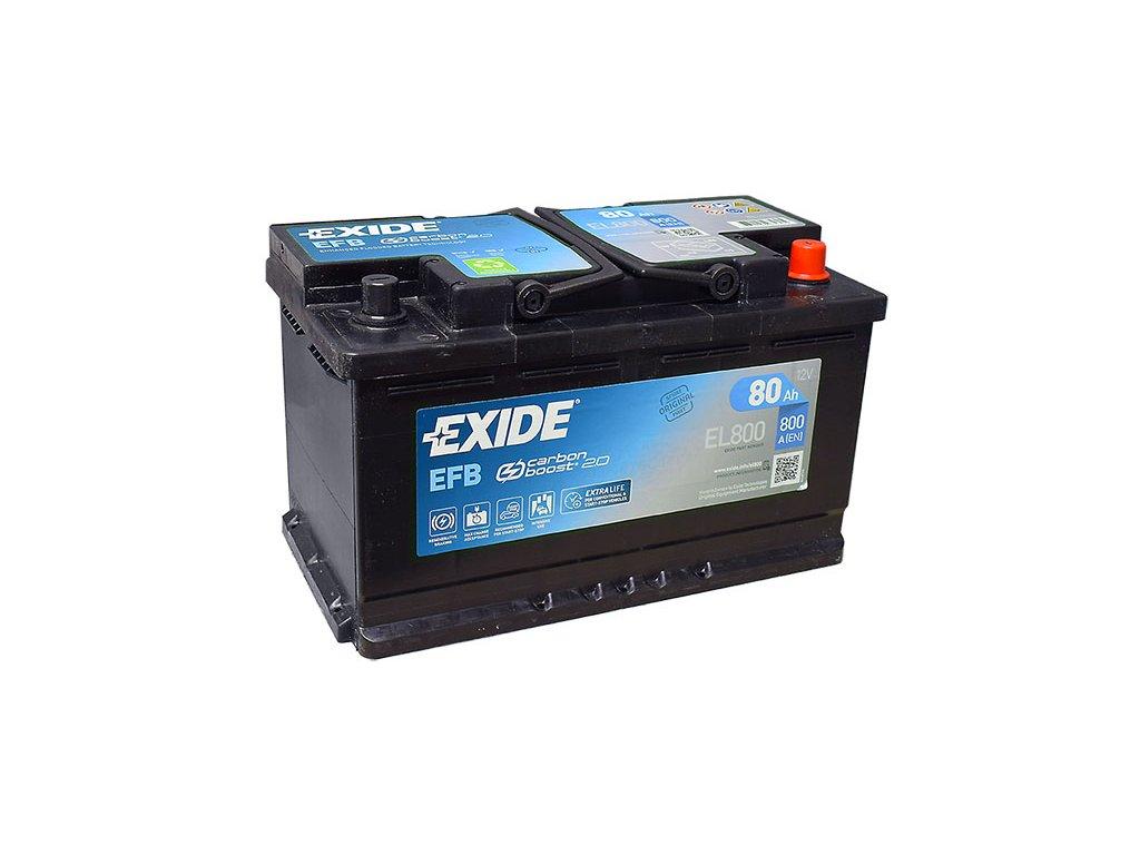 Autobatéria EXIDE START-STOP EFB 80Ah, 12V, EL800