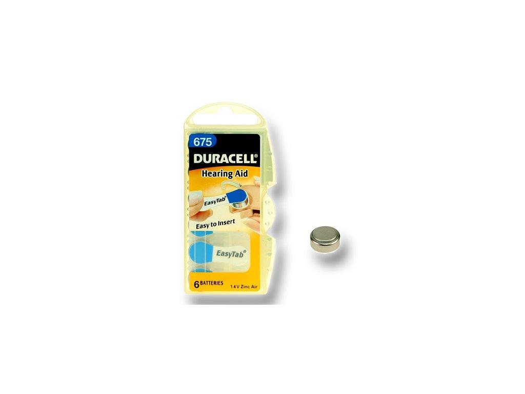 DURACELL zinkový článek pro naslouchadlo 1.4V, 675 (DA675)
