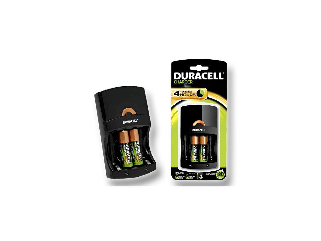 DURACELL 4Hours Charger - nabíječka pro AA/AAA + 2 články AA (CEF14EU)