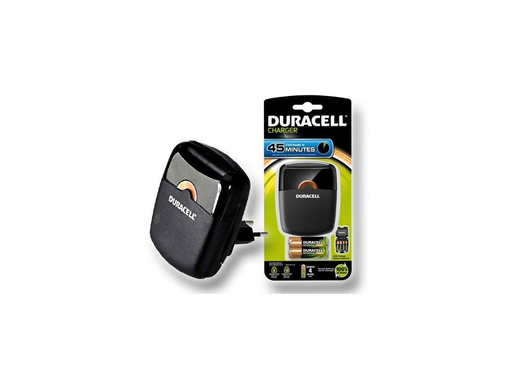 DURACELL 45Minutes Charger - nabíječka pro AA/AAA + 2 články AA (CEF27EU)