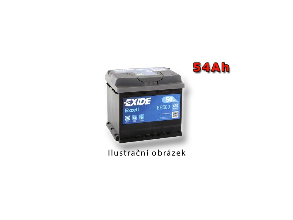Autobatéria EXIDE EXCELL 54Ah, 12V, EB542