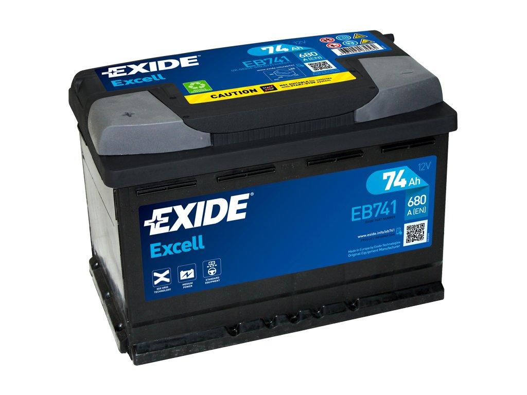 Autobatéria EXIDE EXCELL 74Ah, 12V, EB741