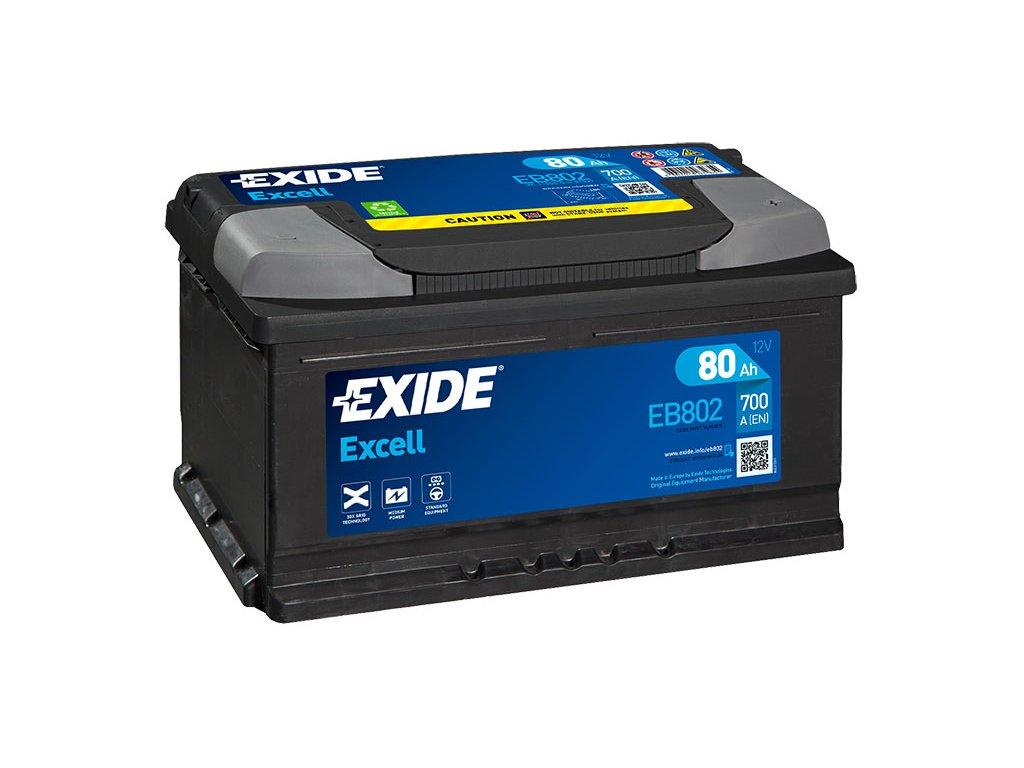 Autobatéria EXIDE EXCELL 80Ah, 12V, EB802