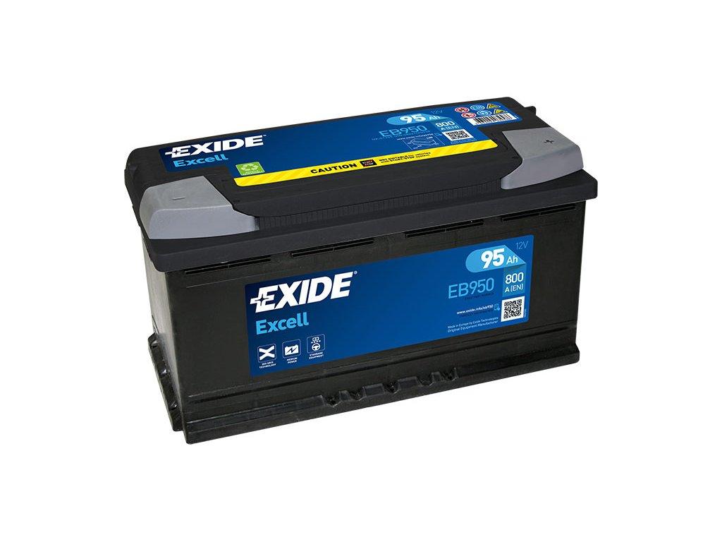 Autobatéria EXIDE EXCELL 95Ah, 12V, EB950