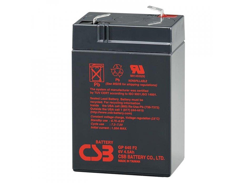 CSB Batéria GP645, 6V, 4,5Ah