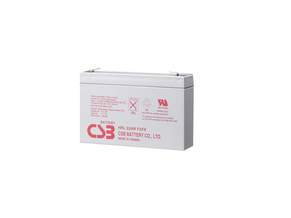 CSB Batéria HRL634W F2, 6V, 9Ah