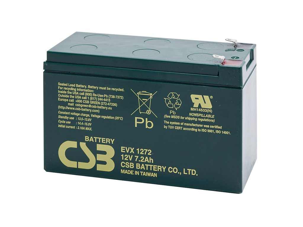 Batéria CSB EVX1272 F2, 12V, 7,2Ah