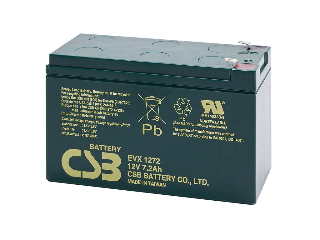 CSB Batéria EVX1272 F2, 12V, 7,2Ah