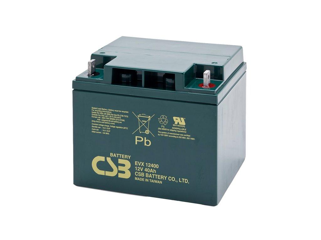 Batéria CSB EVX12400, 12V, 40Ah
