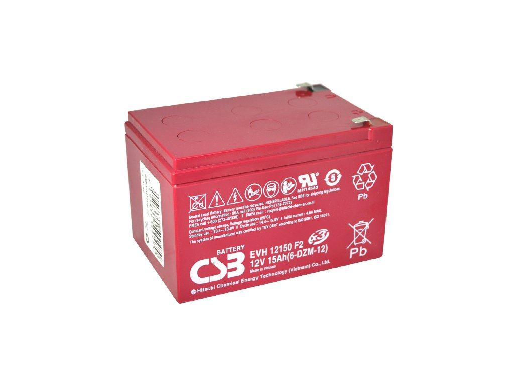 Batéria CSB EVH12150 (6-DZM-12), 12V, 15Ah