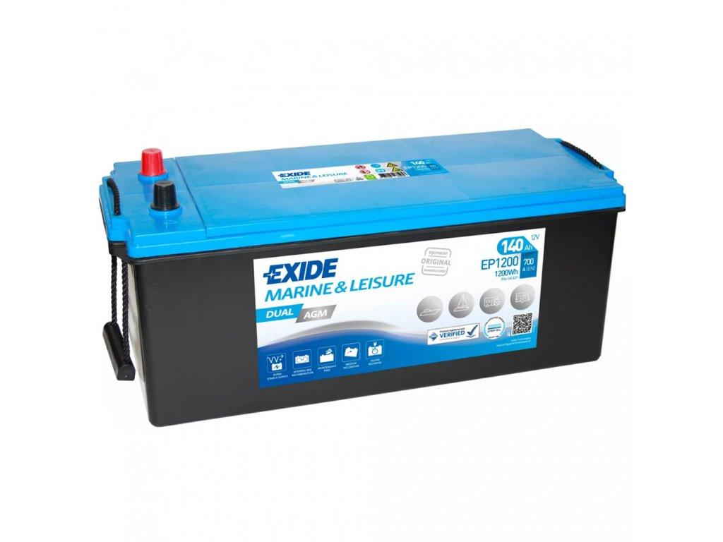 Trakčná batéria EXIDE DUAL AGM 140Ah, 12V, EP1200 (EP 1200)