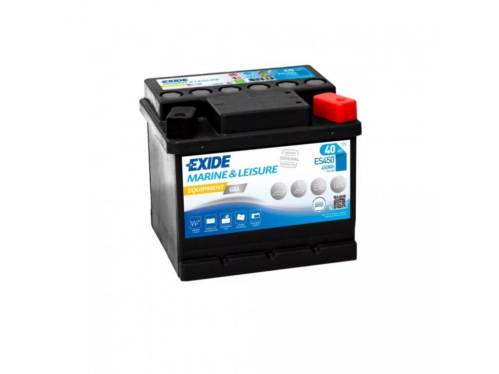 Trakčná batéria EXIDE EQUIPMENT GEL 40Ah, 12V, ES450 (ES 450)