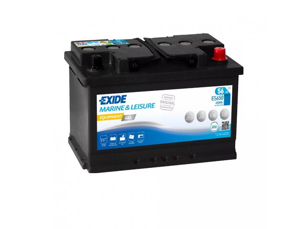 Trakčná batéria EXIDE EQUIPMENT GEL 56Ah, 12V, ES650 (ES 650)