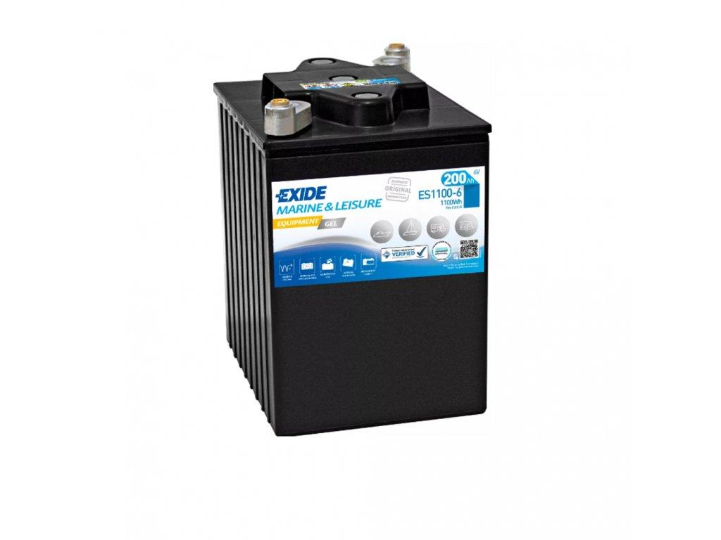 Trakčná batéria EXIDE EQUIPMENT GEL 200Ah, 6V, ES1100-6 (ES 1100-6)