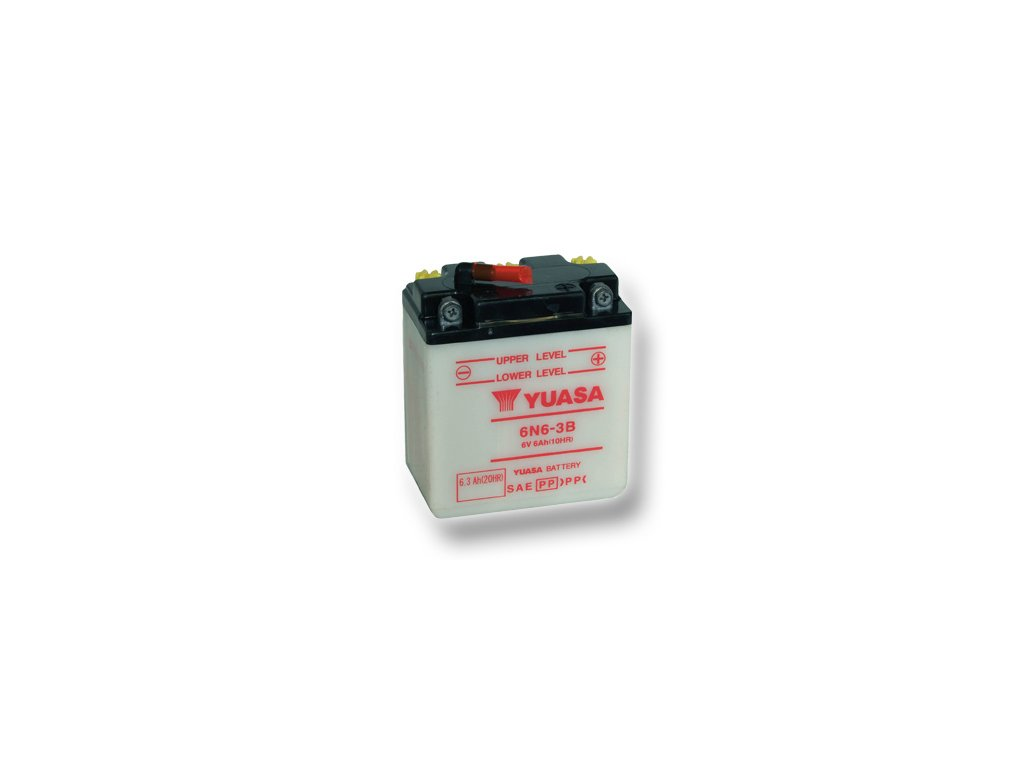 Motobatéria YUASA (originál) 6N6-3B, 6V, 6Ah  dodávané vrátane balenia akumulátorovej kyseliny