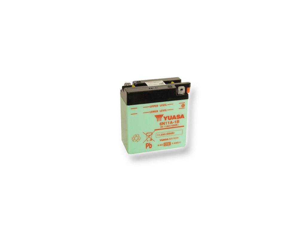 Motobatéria YUASA (originál) 6N11A-1B, 6V, 11Ah  dodávané vrátane balenia akumulátorovej kyseliny