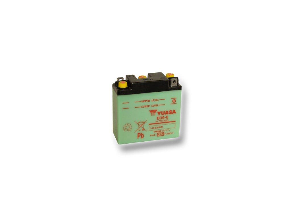 Motobatéria YUASA (originál) B39-6, 6V, 7Ah  dodávané vrátane balenia akumulátorovej kyseliny