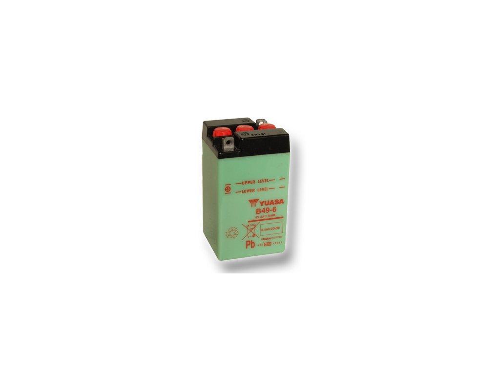 Motobatéria YUASA (originál) B49-6, 6V, 8Ah  dodávané vrátane balenia akumulátorovej kyseliny