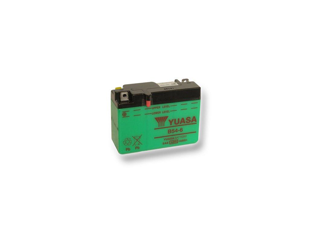 Motobatéria YUASA (originál) B54-6, 6V, 12Ah  dodávané vrátane balenia akumulátorovej kyseliny