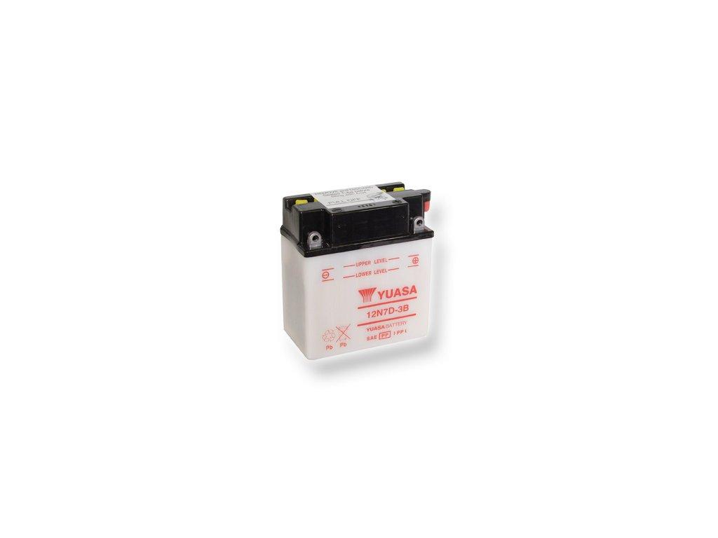 Motobatéria YUASA (originál) 12N7D-3B, 12V,  7Ah  dodávané vrátane balenia akumulátorovej kyseliny