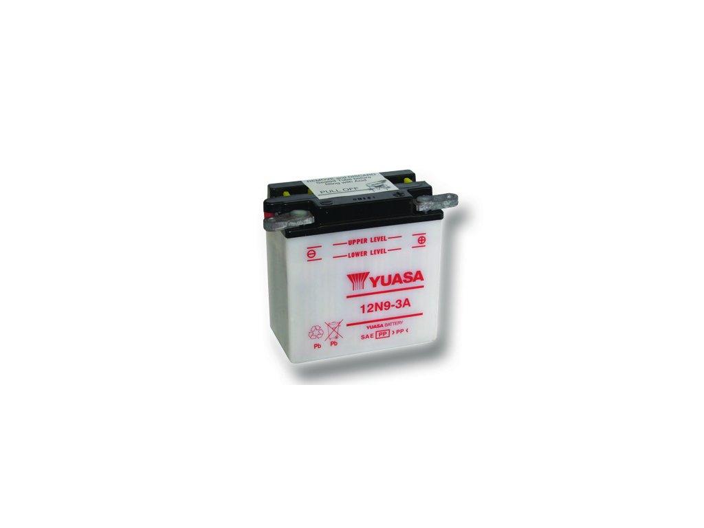 Motobaterie YUASA (originál) 12N9-3A, 12V,  9Ah  dodávané vrátane balenia akumulátorovej kyseliny
